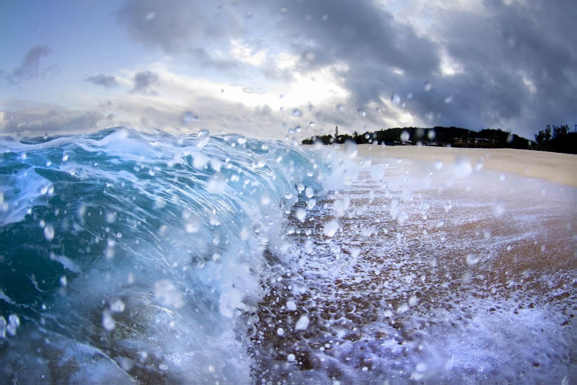 Splashing Ocean - Photography Print on Canvas - Canvas Wall Art