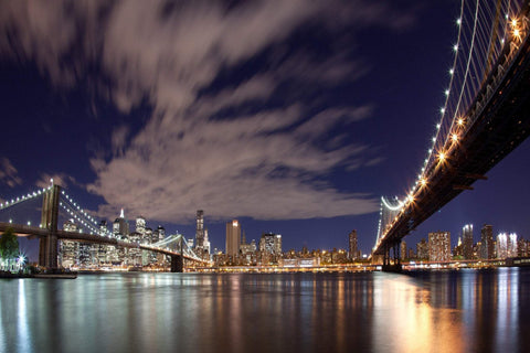 Nyc Bridges  - Large Canvas Photography - Large Canvas Wall Art