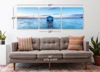 Boathouse on the Swan River <h2>3 Panel Ocean Panorama Vinyl Photography Print</h2>