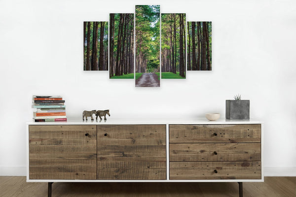 A Walk in the Forest <h2>5 Panel Nature Landscape Vinyl Photography Print</h2>