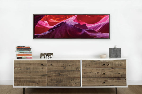 Antelope Cave Framed <h2>Nature Landscape Framed Panoramic Vinyl Photography Print</h2>