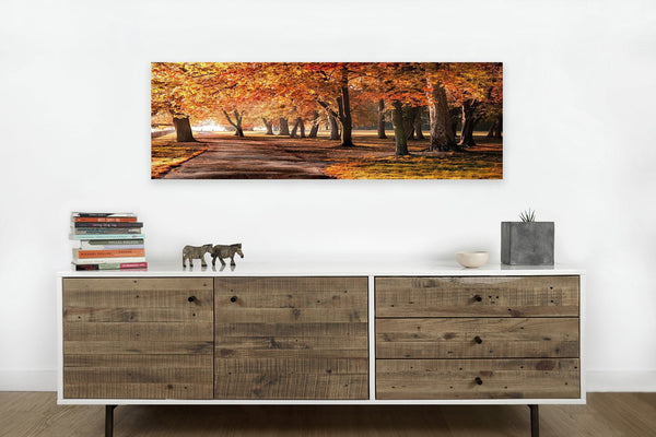 Autumn Park <h2>Nature Landscape Panorama Canvas Photography Print</h2>