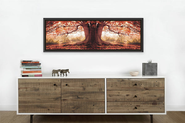 Autumn Tree <h2>Nature Landscape Framed Panoramic Photography Print</h2>