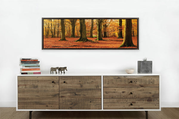 Autumn Trees <h2>Nature Landscape Framed Panoramic Photography Print on HD Vinyl</h2>