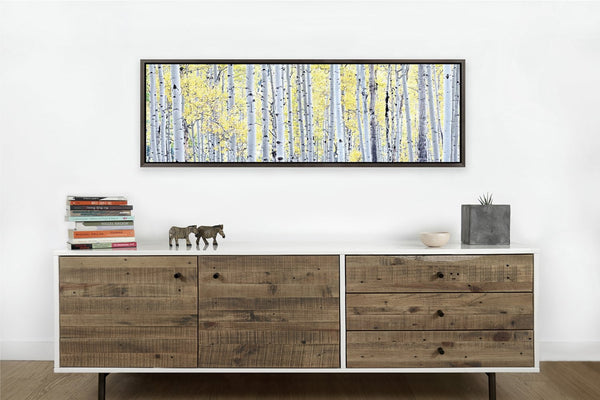 Birch Trees <h2>Framed Nature Landscape Canvas Photography Print</h2>