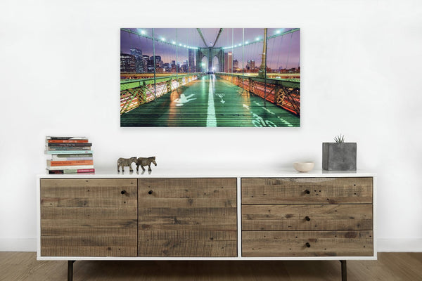 Brooklyn Bridge Lights on Canvas