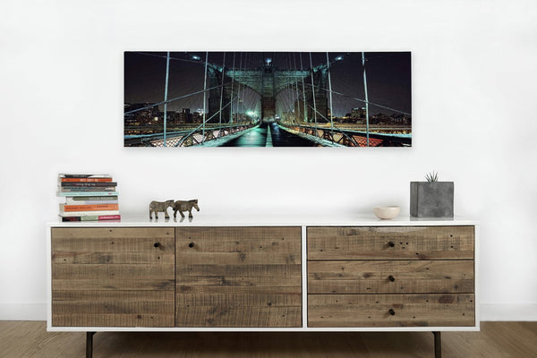 Brooklyn Bridge at Night on Canvas