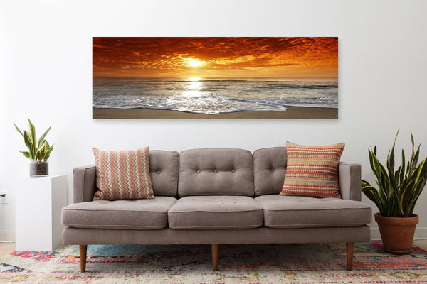 Corsica Sunset Panorama on Canvas