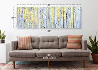 Birch Woods <h2>3 Panel Nature Landscape Canvas Photography Print. Taken by Photographer David Balyeat.</h2>