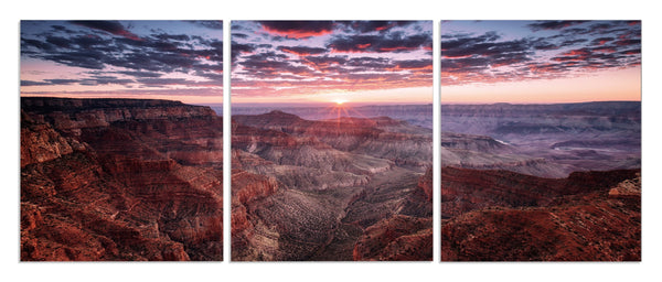 Aeons Grand Canyon <h2>Frameless 3 Panel Nature Landscape Canvas Photography Print. Photo taken by Photographer Felix Roser</h2>