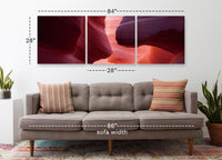 Desert Wave <h2>Frameless 3 Panel Nature Landscape Canvas Photography Print. Taken by Photographer Justin Reznick.</h2>