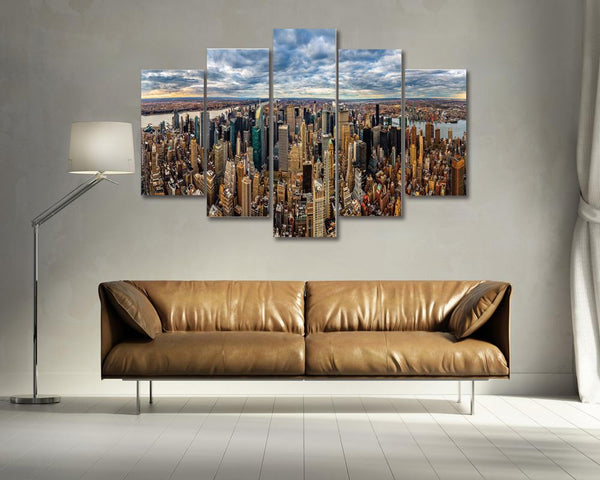 New York Skyline 5 Panel Scene