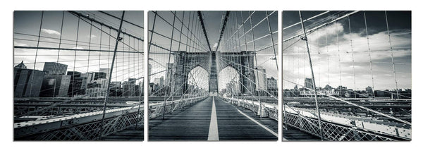 Brooklyn Bridge - Photography Triptych Print - 3 Panel Landscape Photography