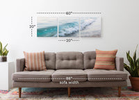 Breaking Wave <h2>Frameless 3 Panel Ocean Panorama Vinyl Photography Print. Taken by Photographer Seb Ruiz.</h2>
