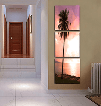 Palm Sunshine - Photography Triptych Print - 3 Panel Landscape Photography