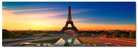 Eiffel Sun - Photography Print on Canvas - Canvas Panoramic Wall Art