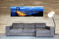Bay Bridge <h2>Cityscape Panoramic Canvas Photography Print</h2>