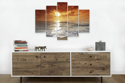 Sunset beach  #4 (HD Canvas 5-Panel)