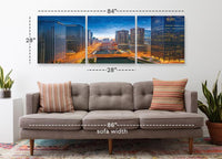 Chicago Night <h2>3 Panel Cityscape Panorama Canvas Photography Print. Taken by Photographer Steve Gadomski.</h2>