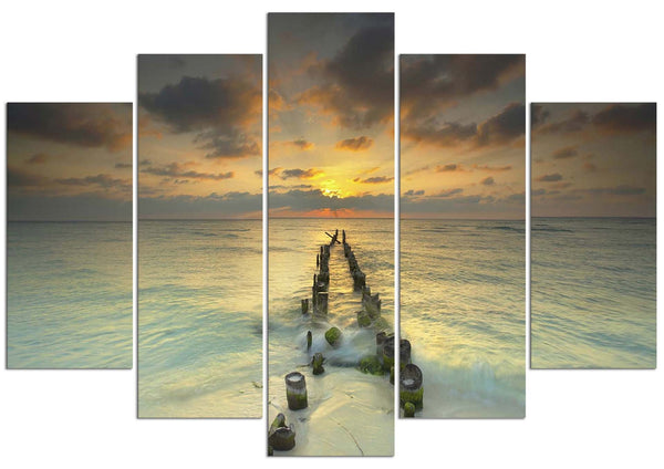 Endlessly Out To Sea #5 (HD Canvas 5-Panel)