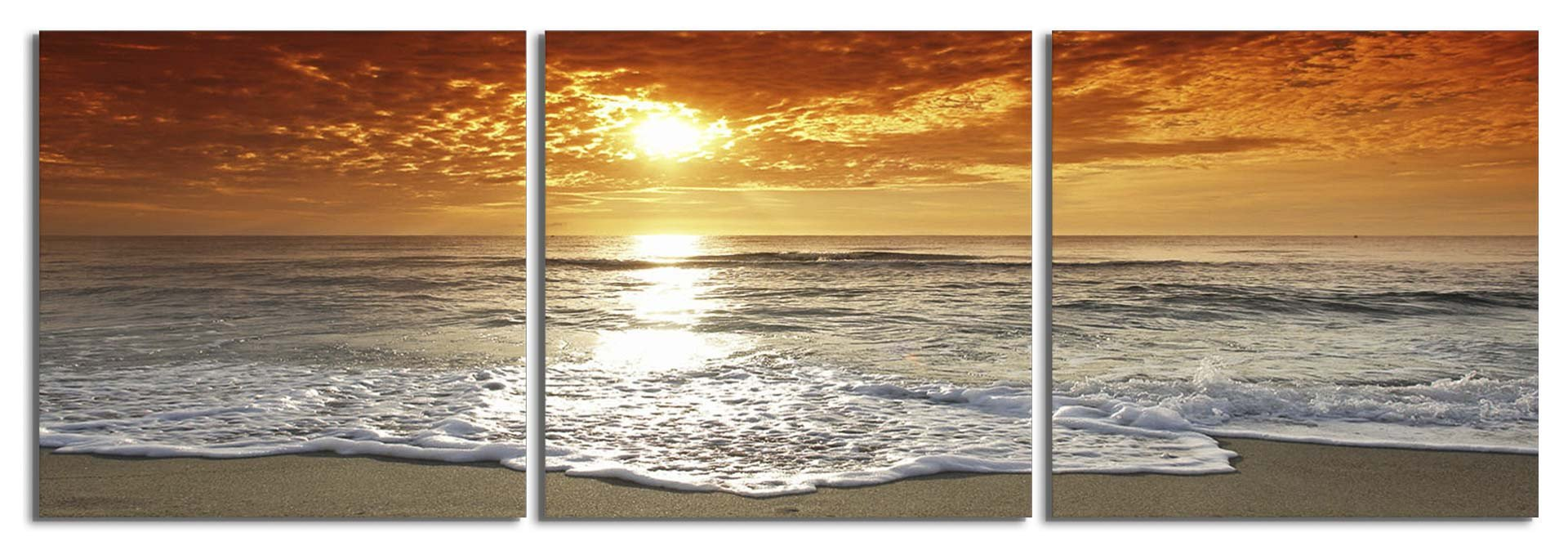 Three Panel Wall Art 3 panel wall art: corsica france photography print – elementem