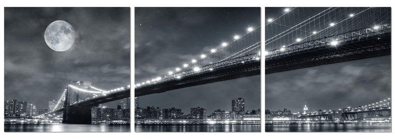 Moonrise Over the Brooklyn Bridge
