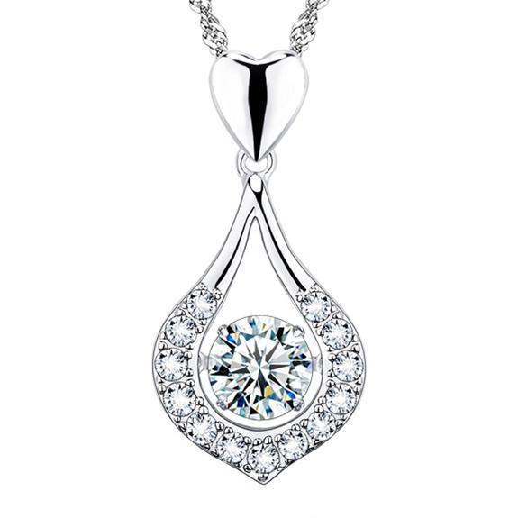 Twinkling Heart Waterdrop Stone Necklace - BUY 1 GET 1 FREE TODAY!!!