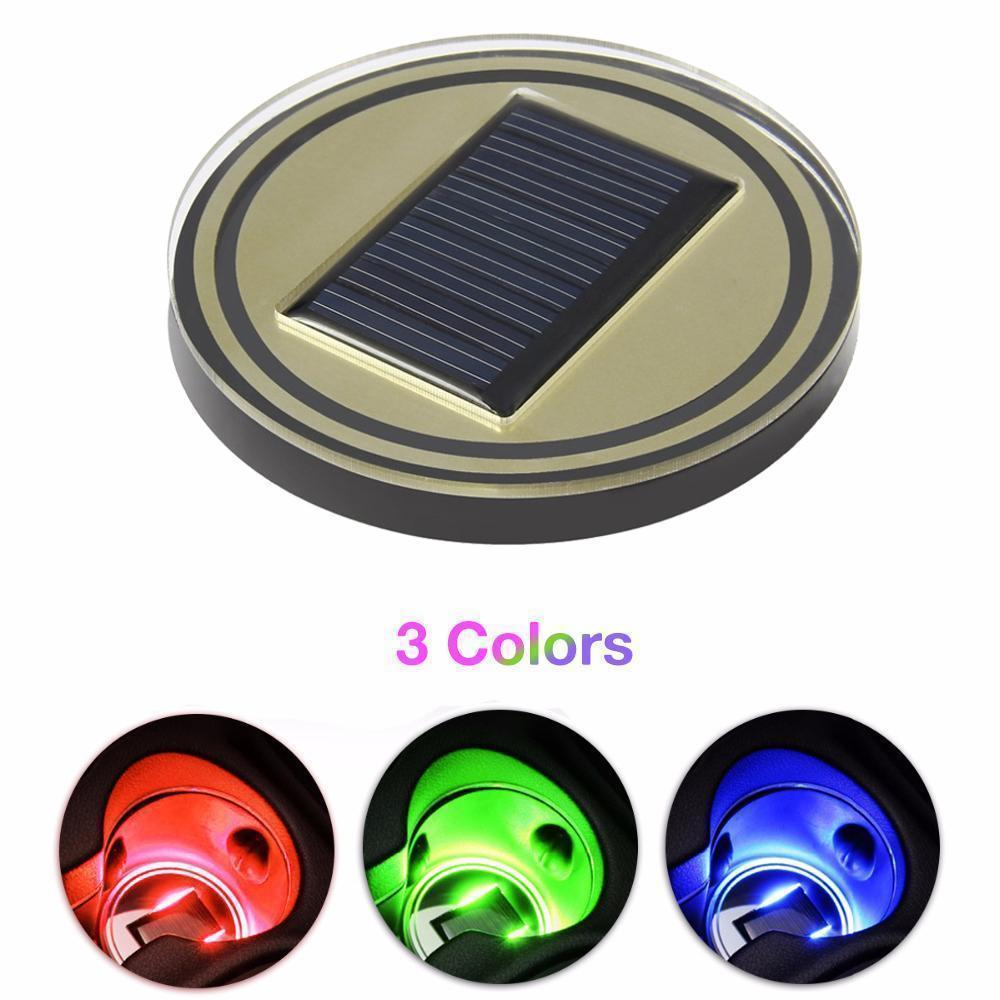 SOLAR POWERED LED CUP MAT (2PCS)- FREE SHIPPING