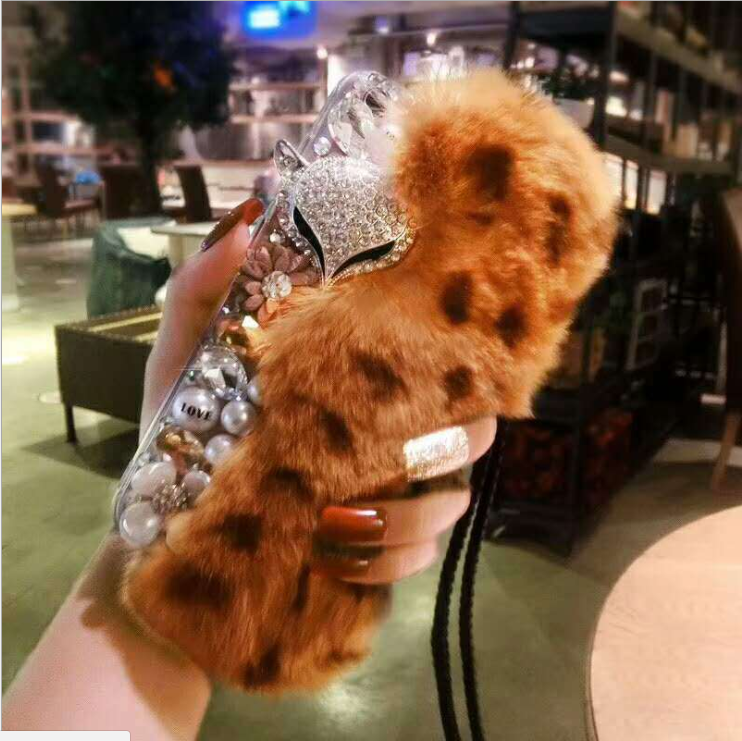 Fashion Rabbit Fur Hair Plush Luxury Phone Case - For IPhone