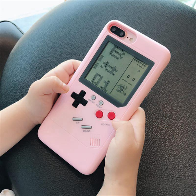 IPhone Case Tetris Game Phone Case Decompression Game iPhone 6/7/8/X Compatible