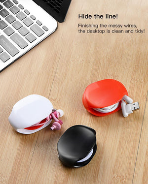Portable Auto Winder Holder Data Line Headphone Cable Storage Device