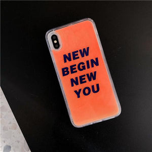 Fashion Luminous Liquid Quicksand Phone Case For iPhone