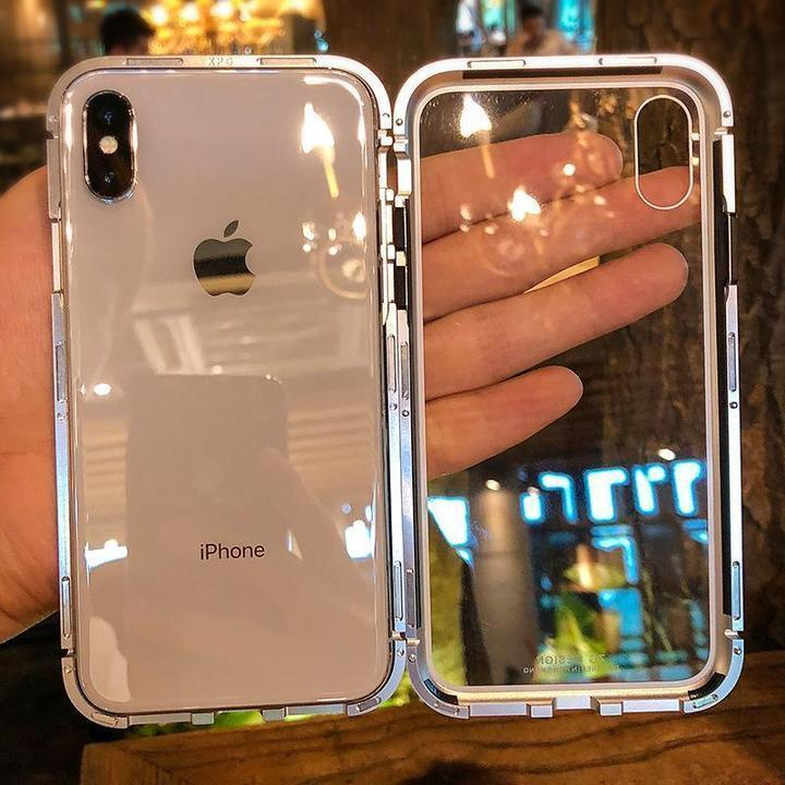 2019 New Fashion Magnetic Adsorption Transparent Glass Cover Phone Case -(50% OFF)-FOR IPHONE