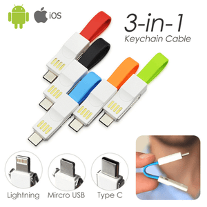 ONLY $14.99 - 70% OFF DISCOUNT-3-in-1-The Smallest Keyring Cable(Factory Outlet)