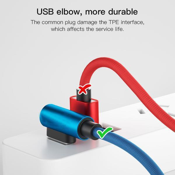 Type C 90 ° Fast Charging USB Data Cord - SOGO-LIFE