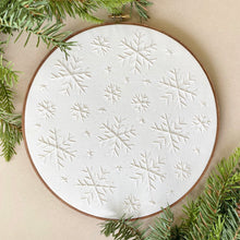 "Load image into Gallery viewer, 10"" snowflake hoops"