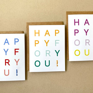 happy for you! card set