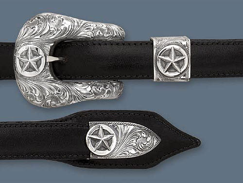 "Clint Orms 3/4"" DUVAL 1807 Belt Buckle Set"