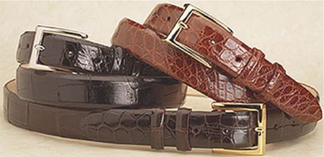 "1.25"" Wide Classic Alligator Belts Tapered to 1"""