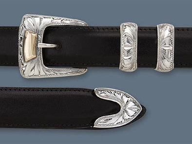 "Clint Orms 1"" CLAY 1803 Belt Buckle Set"