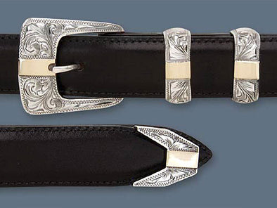 "Clint Orms 1"" CLAY 1804 Belt Buckle Set"
