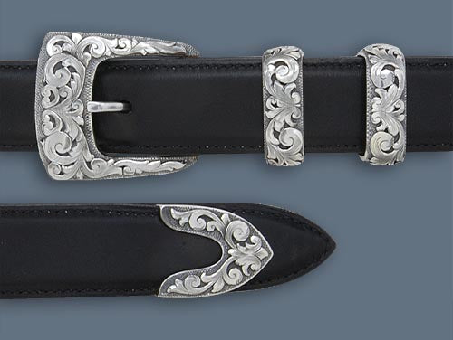 "Clint Orms 1"" CLAY 1820 Belt Buckle Set"