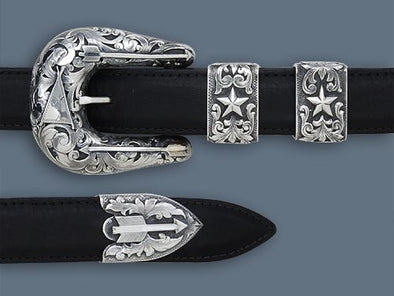 "Clint Orms 1"" PECOS 1854 Belt Buckle Set"