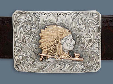 "Clint Orms COMANCHE 1801  Trophy Belt Buckle 2.5"" x 1.8"""