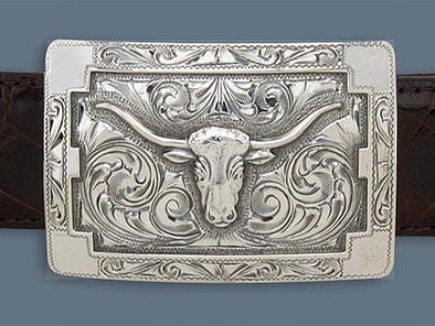 "Clint Orms MARTIN 1801 Trophy Belt Buckle 2.7"" x 1.85"""
