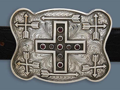 "Clint Orms WICHITA 1800 Trophy Belt Buckle 4.5"" x 3.5"""