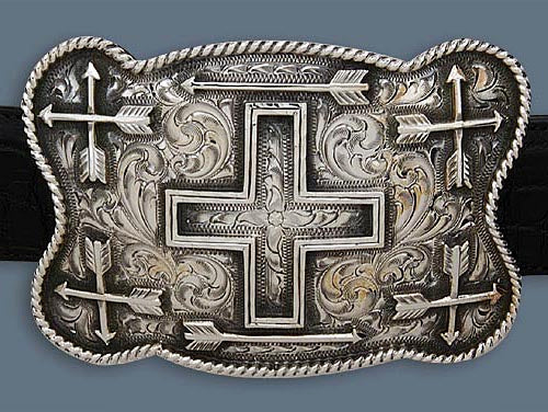 "Clint Orms WICHITA 1803 Trophy Belt Buckle 4.5"" x 3.5"""