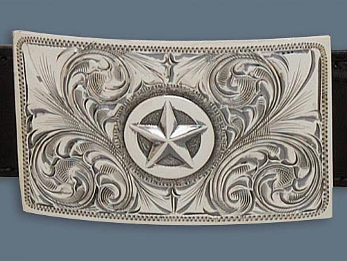 "Clint Orms ZAVALA 1801 Trophy Belt Buckle 2.25"" x 1.4"""