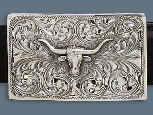 "Clint Orms ZAVALA 1802 Trophy Belt Buckle 2.25"" x 1.4"""
