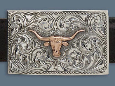 "Clint Orms ZAVALA 1811 Trophy Belt Buckle 2.25"" x 1.4"""